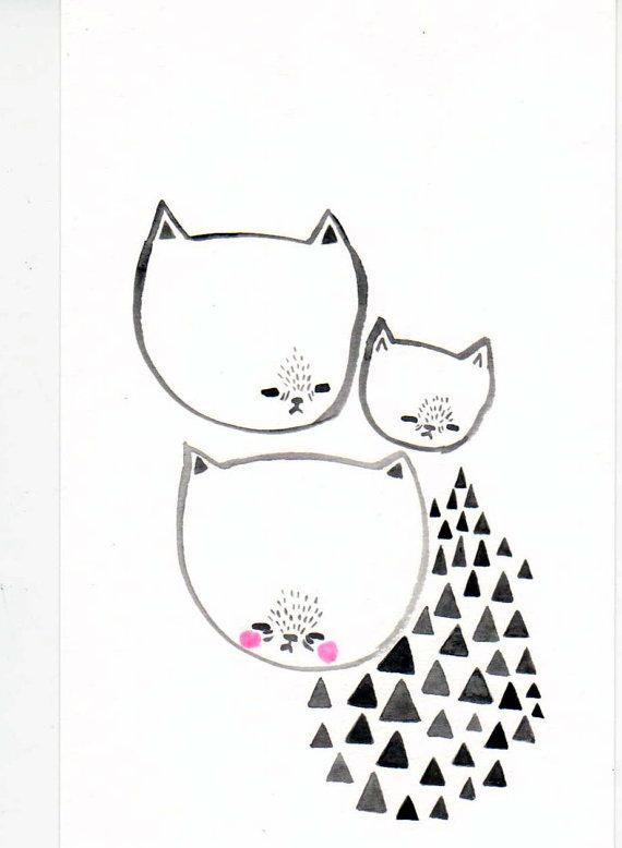 Etsy - Cat Painting