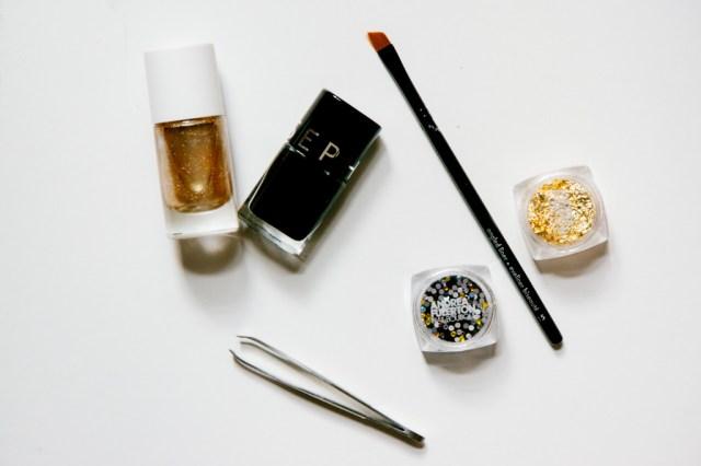 Black and Gold Nail Art -3