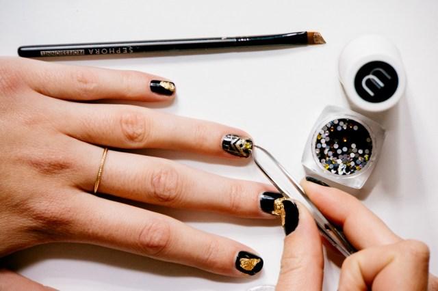 Black and Gold Nail Art -6