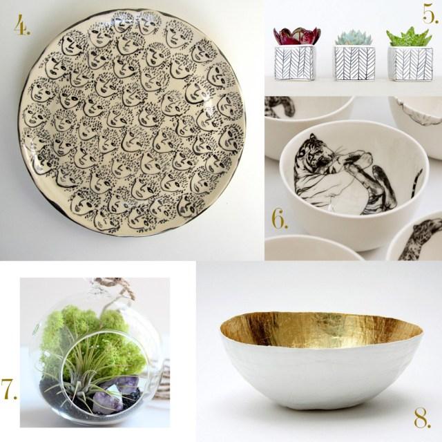 Vaisselle et pots de fleurs Etsy