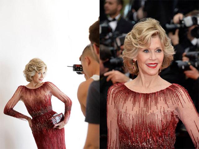 Jane Fonda - Cannes 2014 - Montée des marches 14 mai
