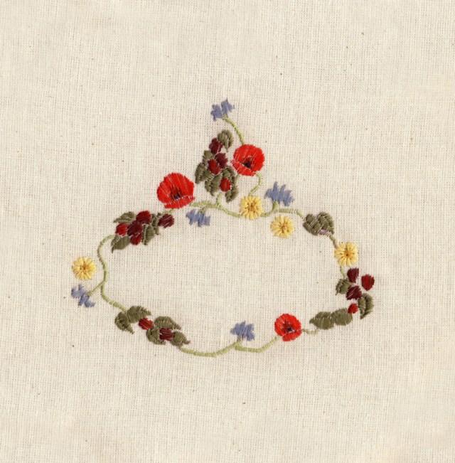 Broderie fleurs Chloe Giordano
