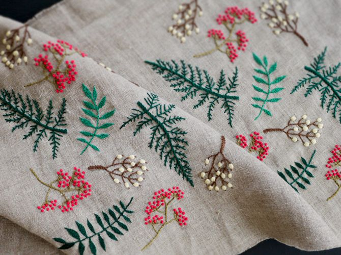 broderie - branchages