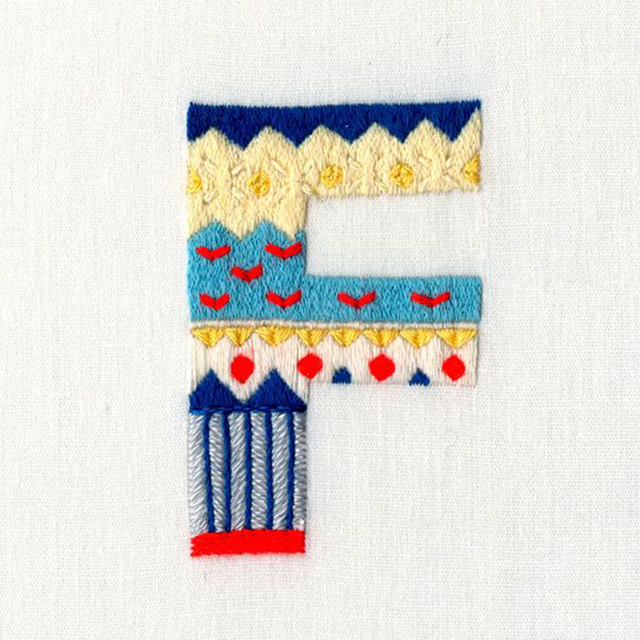 Pin F Embroidery