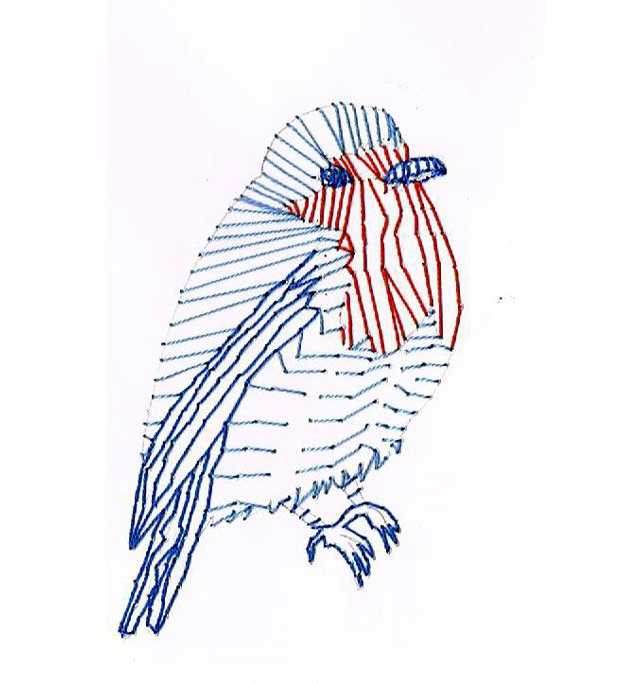 Pin Bird Embroidery