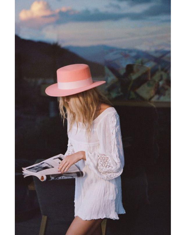 Pin Pink Hat