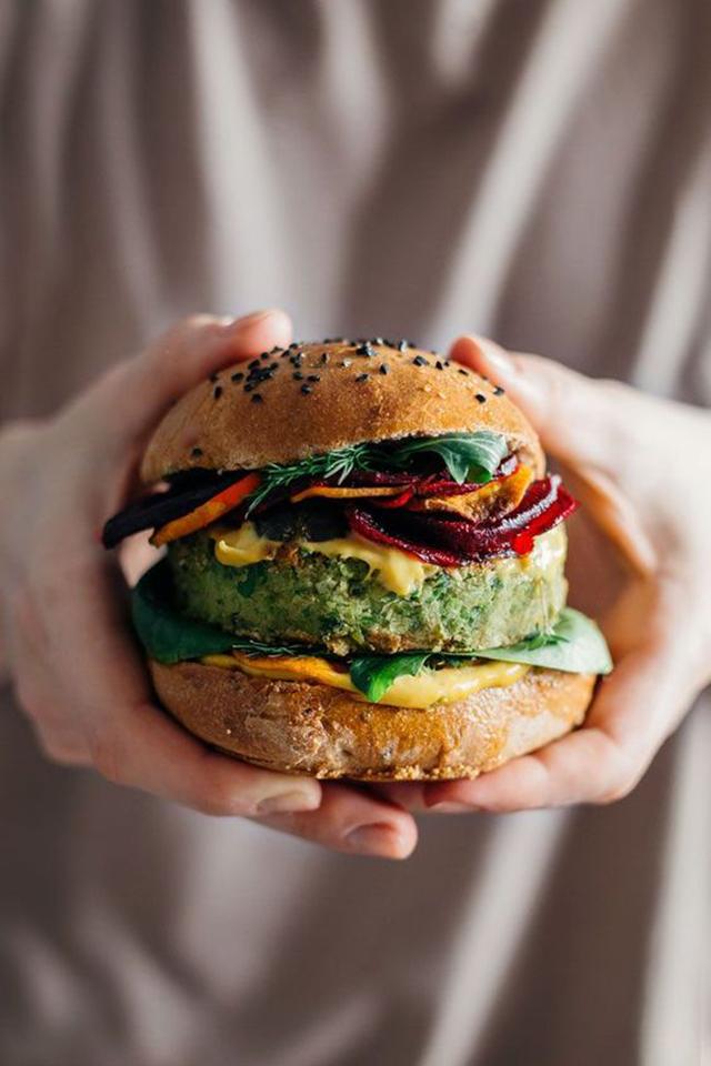 Pin Veggie Burger