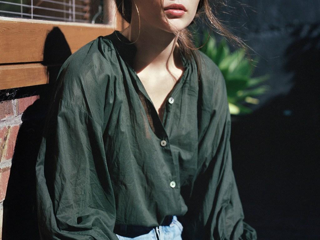 Girl in Kaki Blouse