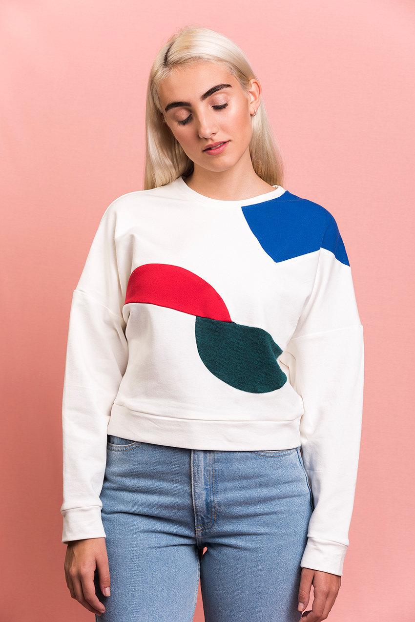 Bauhaus géométrique Sweat-shirt à la main