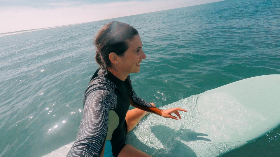 Selfie sur ma planche de surf Chipiron