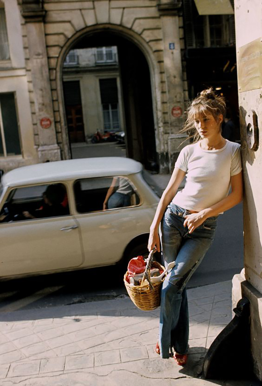 Jane Birkin et son panier