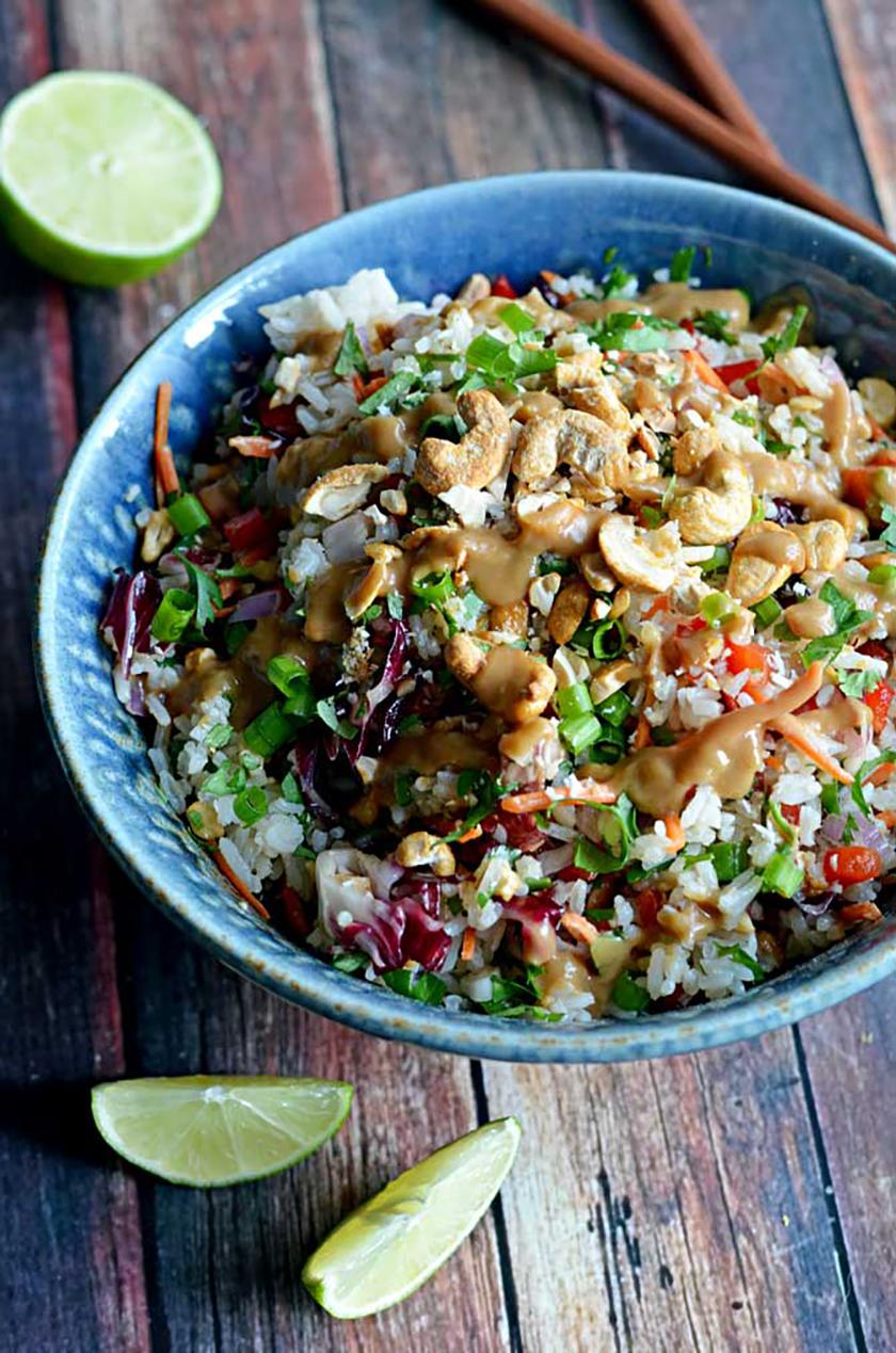 Recette végétarienne Pinterest - Salade Thaï à la noix de coco