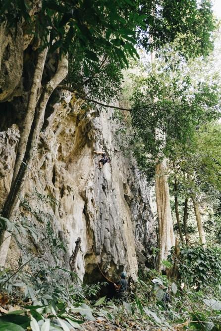 Site d'escalade à Thakek - Grimpeurs - Laos-2