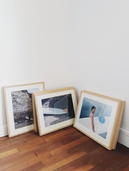 Cadres et photographies pour l'exposition Dix-Deux