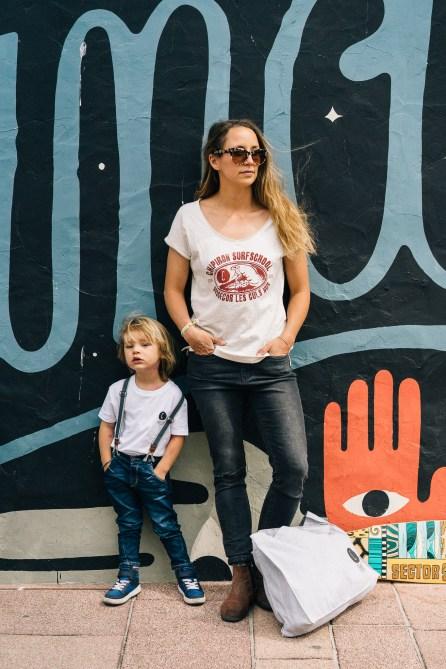 Street Art - Mur Hossegor - Julie et Noa