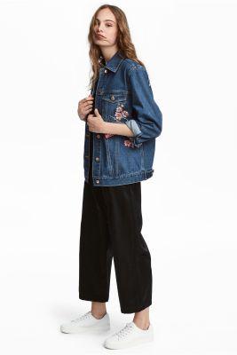 Jupe culotte en satin noir - H&M