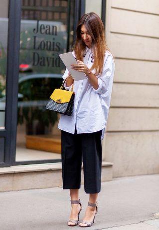 Streetstyle - jupe culotte noire