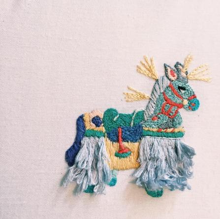 Broderie inspiration inca - Licca