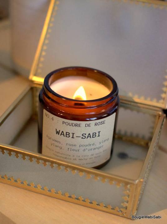 Bougie Wabi Sabi - Poudre de rose