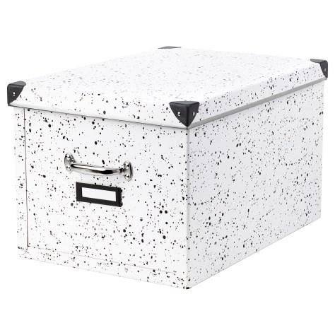 Boîte de rangement mouchetée IKEA