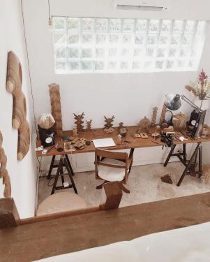Grand établi - Bureau d'artiste
