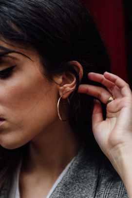 Boucle d'oreille créole en or