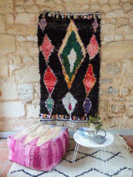 Tapis Boucherouite Marocain