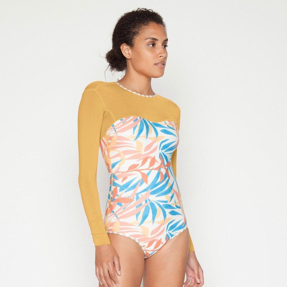 Maillots de Bain modestes pour Dames Maillots de Bain Combinaison de Surf /à Manches Courtes /à Fleurs Burkini