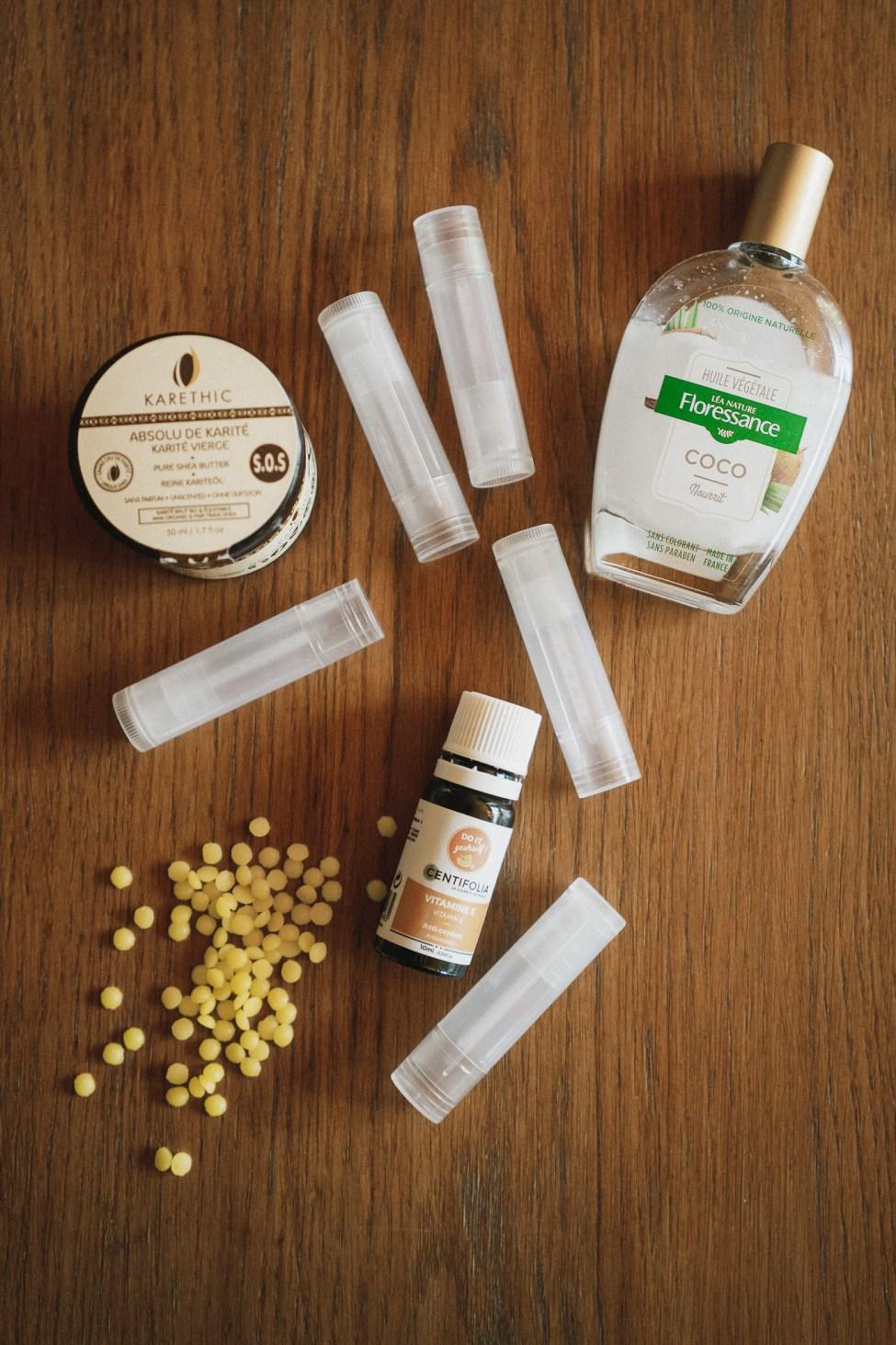 Baume à lèvres BIO maison - DIY - Ingrédients
