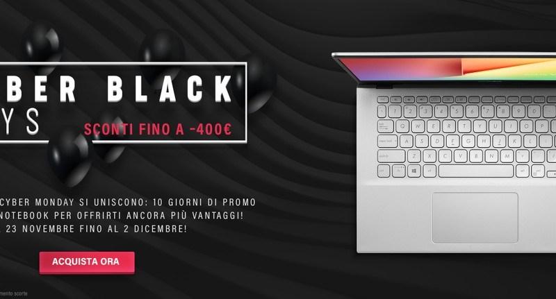 Black Week: ASUS festeggia il Black Friday scontando smartphone e notebook