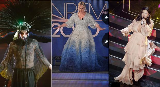 Sanremo 2020, pagelle look quarta serata: Elettra Lamborghini 8, Francesca Novello 5. Achille Lauro stupisce ancora