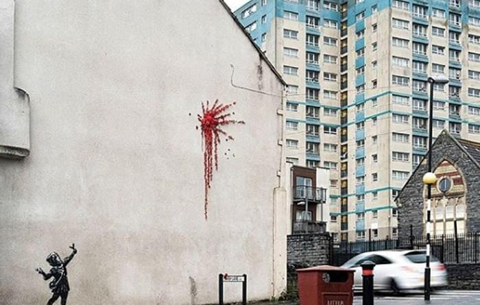 San Valentino: Banksy conferma, sue le rose di Bristol