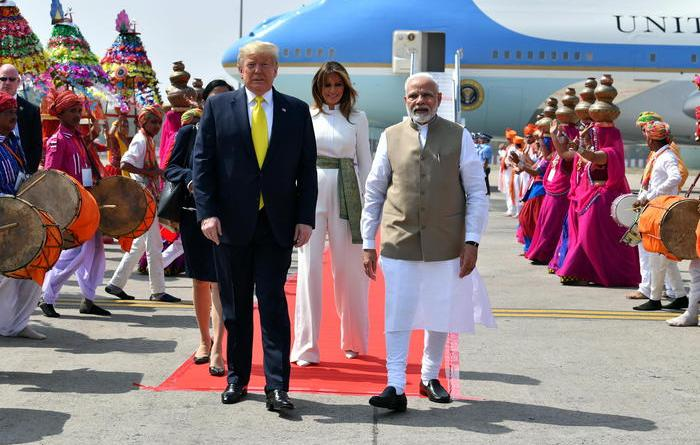 'Namastè Trump', presidente Usa in India