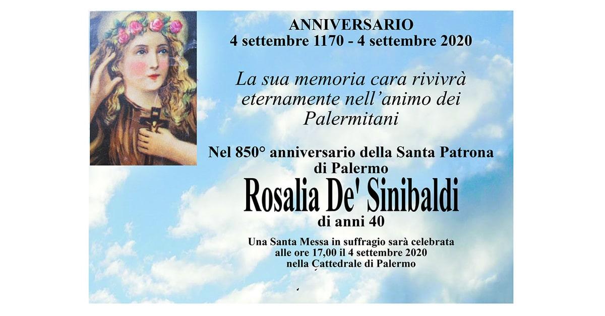 Anniversario Rosalia De Sinibaldi