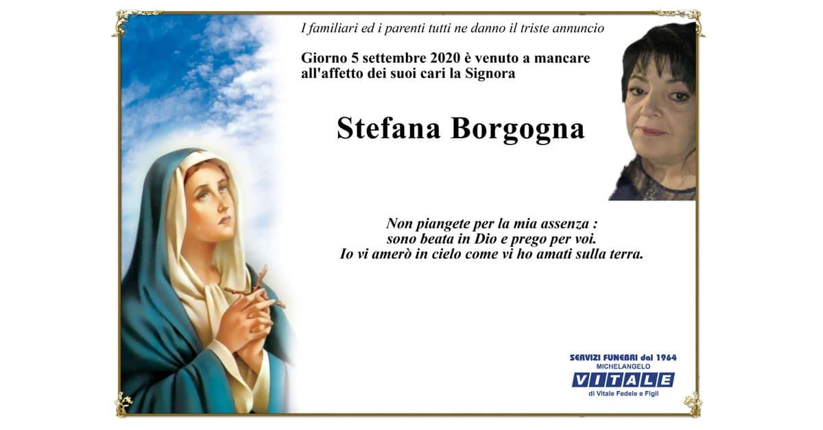Necrologio Stefana Borgogna