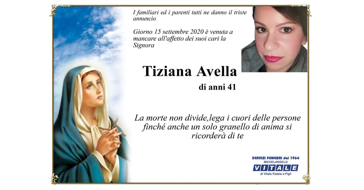 Necrologio Tiziana Avella