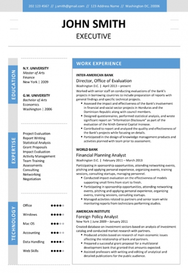 contemporary resume template resume template executive resume template