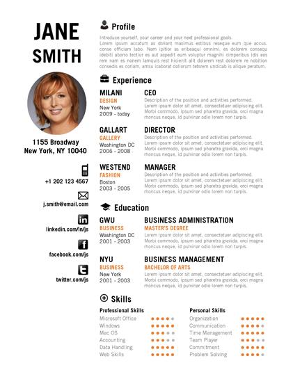 creative resume template trendy resumes