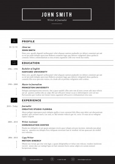 modern resume template trendy resumes