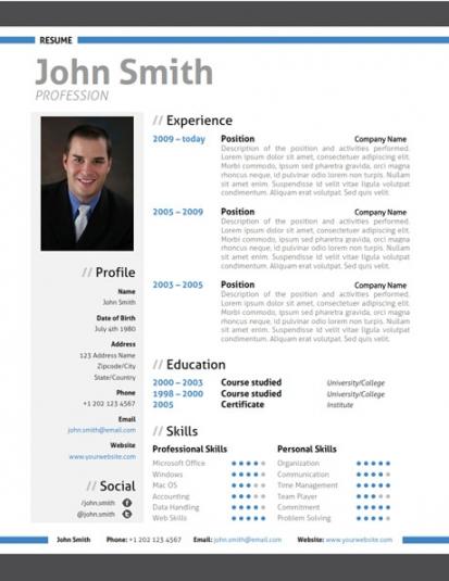 modern resume template trendy resumes sample modern resume