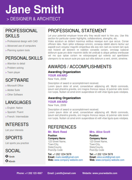 professional resume word template resume formats in word resume