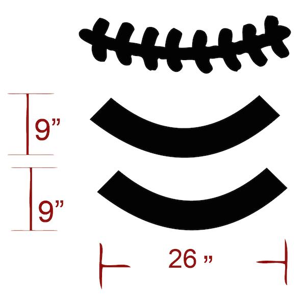 Football Stitches Clipart