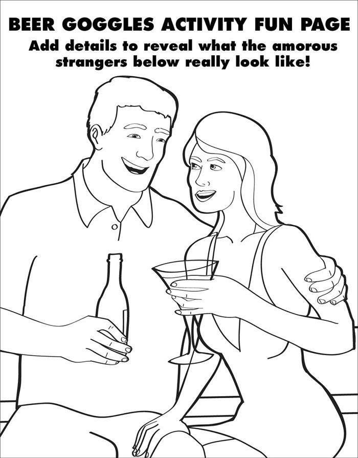 Hilarious and Clever Coloring Book Activities For Adults | colouring pages for adults funny