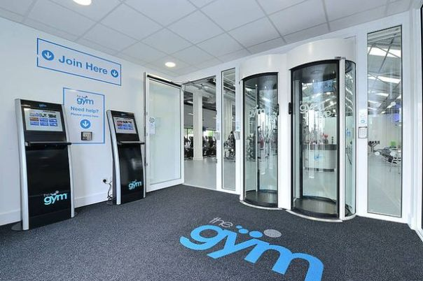 the gym entry