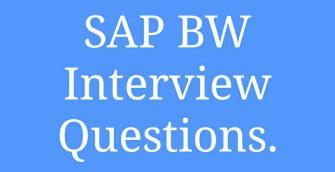 SAP BW Interview Questions & Answers - Trenovision