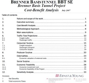 TAV Brennero: il M5S rende pubblica l'Analisi Costi Benefici