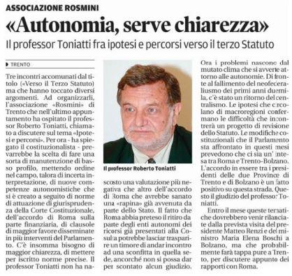 Il Trentino-03022015-Prof.Toniatti-su-accordo-Stato-Provincia