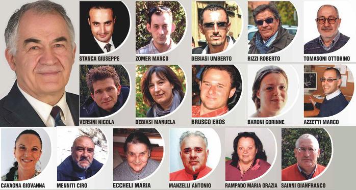 Candidati di lista M5S per elezioni comunali di Ala 2015