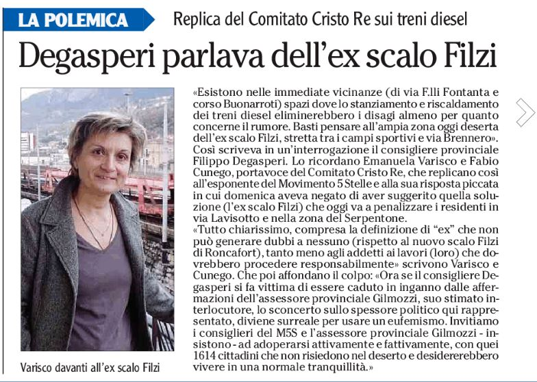 Articolo Adige Varisco