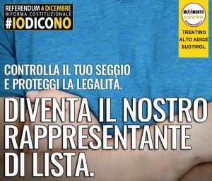 #IoDicoNo Rappresentanti di lista Trentino-Alto Adige / Südtirol